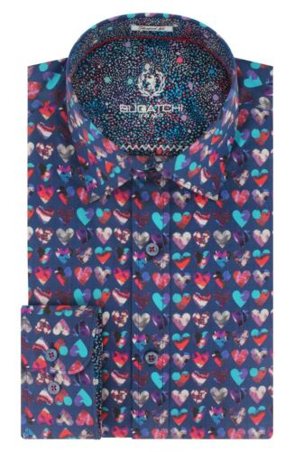 Camicia Cuore Etichetta Nuova Forma Valentines M Fit Uomo Bugatchi Con Sport w1ZYSIq