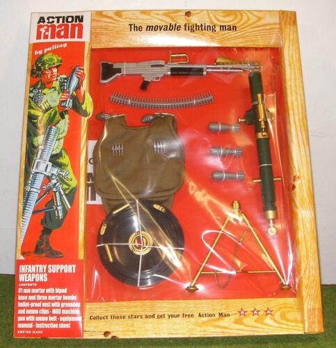 VINTAGE ACTION MAN 40th cardate azione Soldato Fanteria supporto armi pesanti