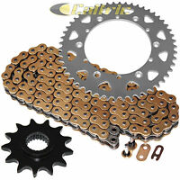 Gold O-ring Drive Chain & Sprockets Kit Fits Yamaha Ttr250 Tt-r250 1999-2006