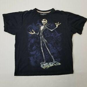 Unisex Jack Skellington Nightmare Before Christmas Disney Inspired NEW Reverse Tie-Dye Black Shirt Size Large