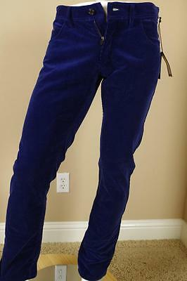 $995 Tom Ford Blue TF003 Corduroy Pants sz 52 36 Straight Jeans Trousers Gucci