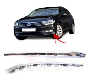 Volkswagen-VW-Passat-B8-2014-2018-per-Paraurti-Anteriore-Inferiore-Cromo