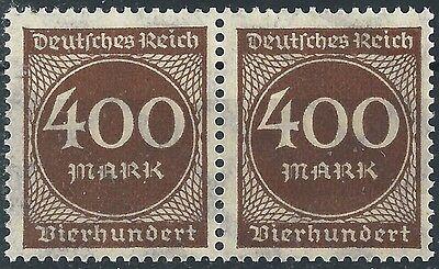 In EntrüCkung Ziffer Im Kreis Minr QualitäT 271 Im Waagerechten Paar Aus Bogen Postfrisch üBerlegene