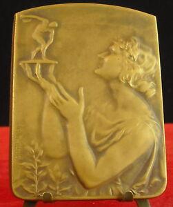 Medaille-art-nouveau-Le-Soir-1953-par-Theunis-Medal-Lancer-du-disque