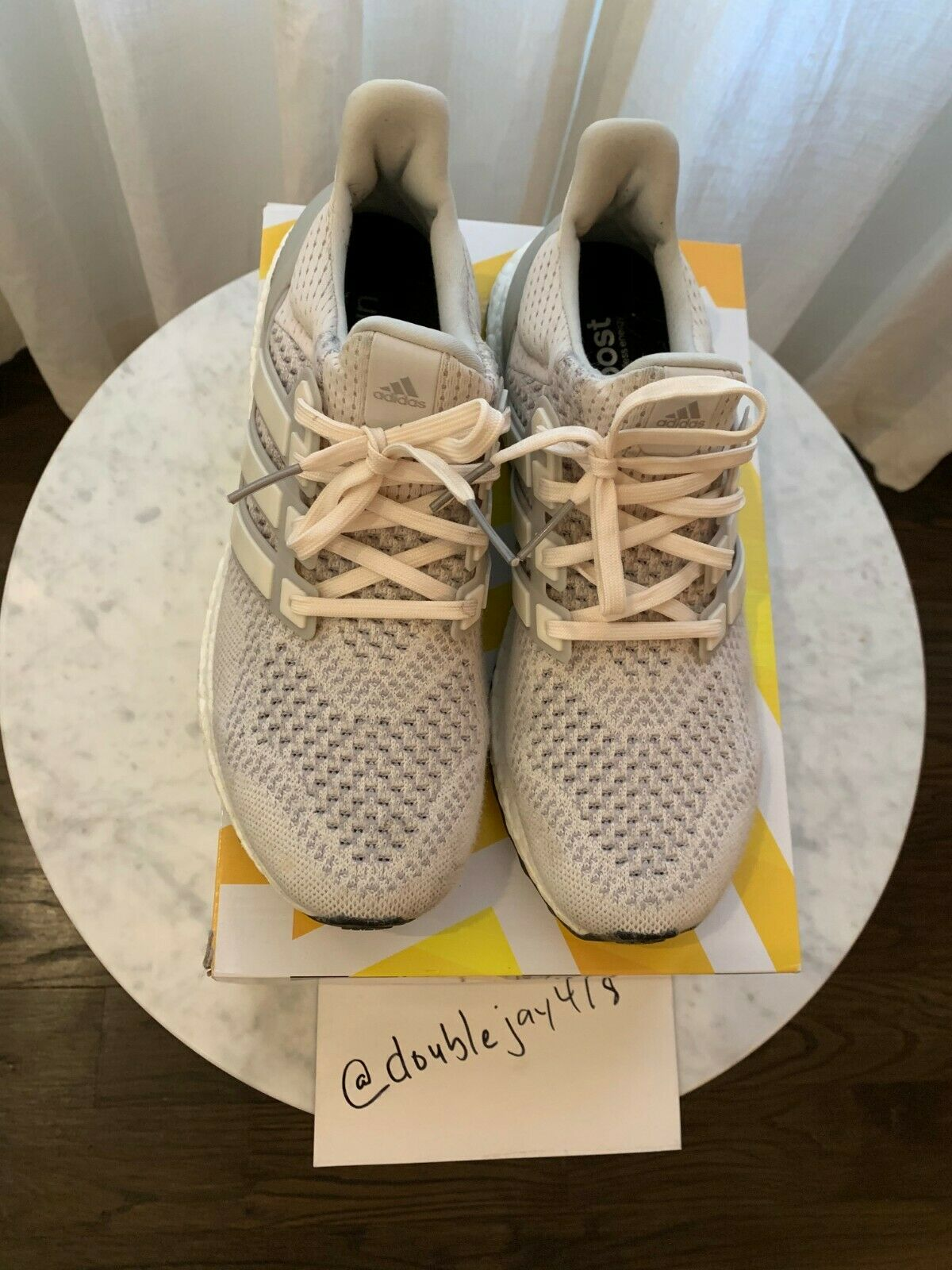 """Adidas Ultra Boost 1.0 OG """" Friends And Family"""" Chalk Cream Yeezy Size 9.5"""