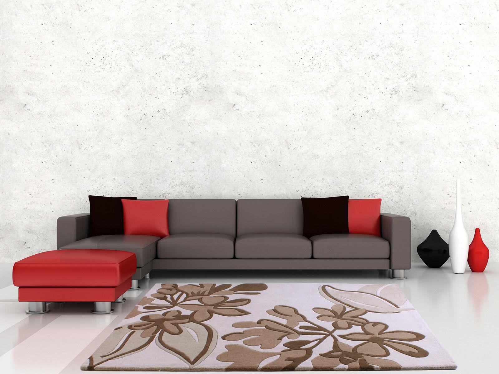 Floral art royaume beige marron marron marron luxe laine tapis en tailles diverses | Les Produits Sont Vendu Sans Limitations  cb5633