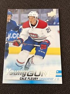 Cale Fleury YOUNG GUNS 2019-20 Upper Deck Series 1 RC #209 Canadiens