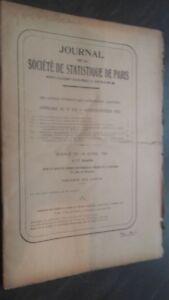 Giornale Della Società Di Statistiche Parigi Gen-Feb 1943 Contenuto Del N° 1-2
