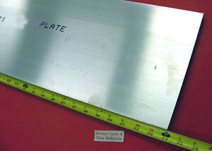 "3/4"" X 10"" ALUMINUM 6061 FLAT BAR 24"" long T6511 .750"" Solid Plate Mill Stock"