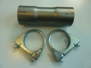 Details about 2 inch 50mm Stainless steel Exhaust Pipe Connector Sleeve & 2  Clamps 6