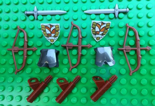 Lego LORD OF THE RINGS SPARES Sword Shield Quiver Legolas Bow Orc Armour Castle