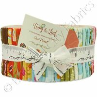 Moda Wing & Leaf Jelly Roll Fabric Gina Martin 40 2.5x44 Quilting Quilt Strips