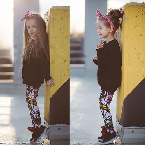 2PCS Kids Infant Baby Girl Outfits Clothes Warm T-shirt Tops+Long Pants Leggings