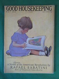 GOOD-HOUSEKEEPING-May-1924-JESSIE-WILLCOX-SMITH-Cover-RAFAEL-SABATINI-Story
