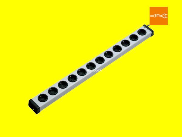 12-fach Mehrfach-steckdosen-leiste Mit 3m-zuleitung Max.3600 Watt| 0200x00122303 Goed Voor Energie En De Milt