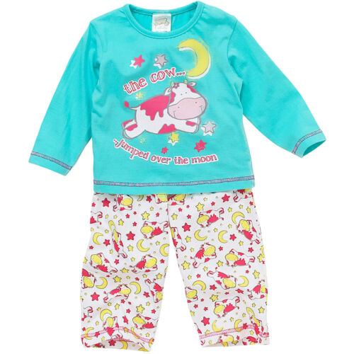 Lullaby Baby Girls Pyjamas Cow Jumped Over The Moon Long Sleeve Cotton 6-23mths