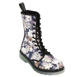 Boots-amp-Braces-easy-10-Loch-TR-September-Damen-Stiefel-Flowers-Boots-Rangers