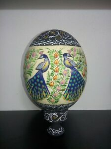 PAINTED-OSTRICH-EGG-SHELL-NATURAL-GRADE-A-WITH-A-STAND
