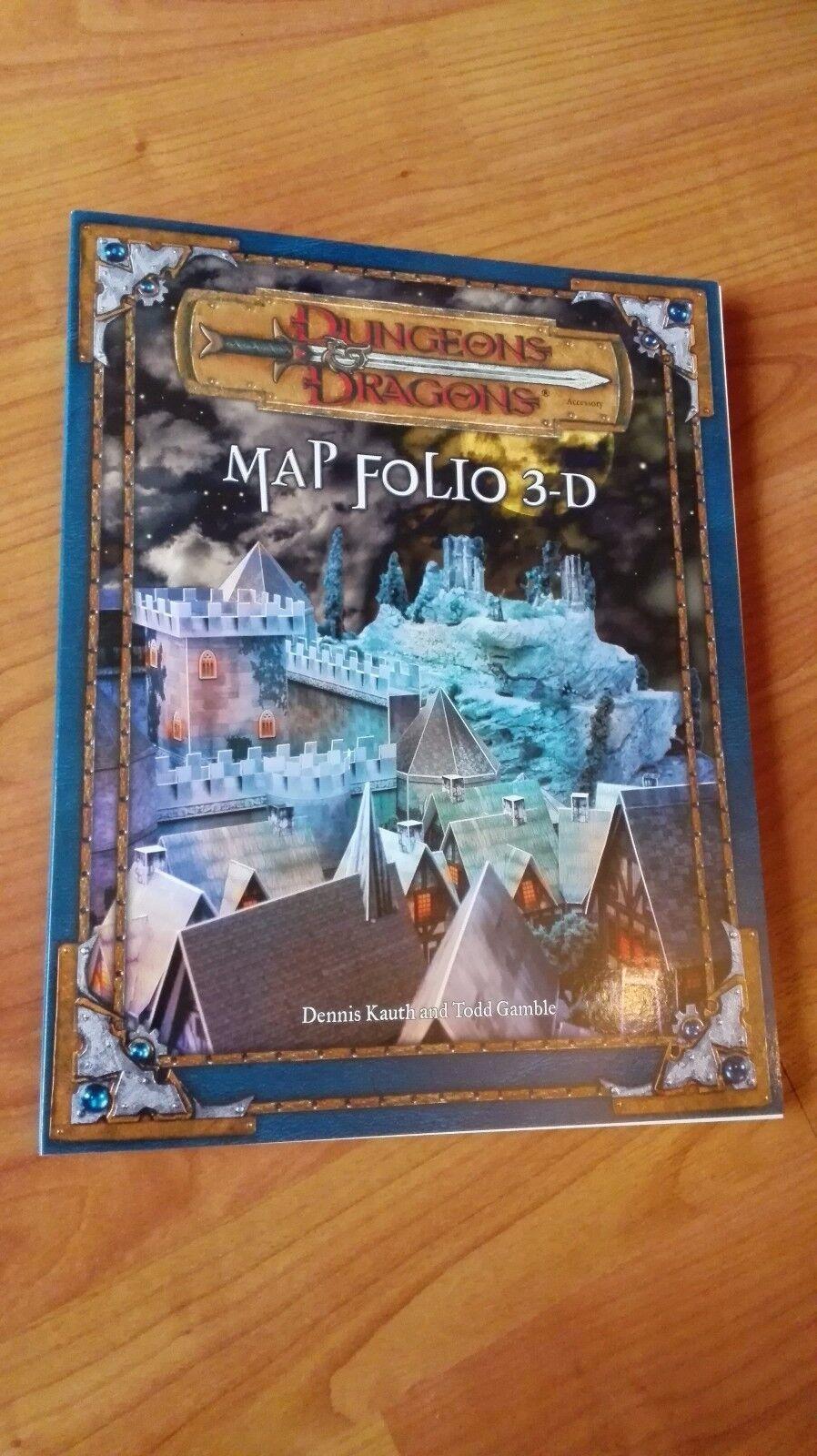 Dungeons & Dragons D&D Map Folio 3-D 3D DORF BURG MINIATUREN KAMPF FÜR DSA AD&D
