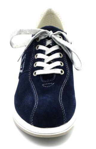 Tennis N 39 Allacciate Con Col Scarpe Donna Valleverde Zeppa Sneakers Blu vwCzqvE