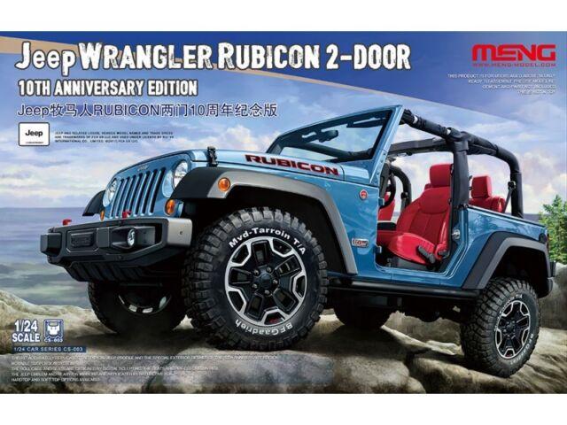 Meng Model CS 003 10th Anniversary Edition 1:24th Scale Jeep Wrangler  Rubicon