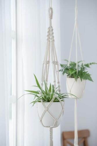 """2 Pack Plant Hanger Flower Pot Plant Holder Large 4 Legs Macrame Jute 41/"""" NEW"""