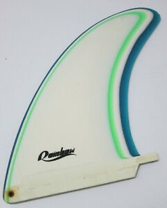 Vintage-Rainbow-8-034-Surfboard-Fin-Skeg-White-Blue-Green-Nice-Condition