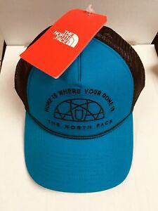 THE-NORTH-FACE-X-Stitch-Mesh-Trucker-Baseball-Hat-Adjustable-Ball-Cap-NEW-NWT