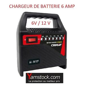 chargeur de batterie 6 amp voiture auto bateau camping car 6v 12v 6 amperes ebay. Black Bedroom Furniture Sets. Home Design Ideas