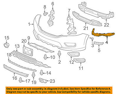 Passenger Side Fender Support For Accord 13-16 Front