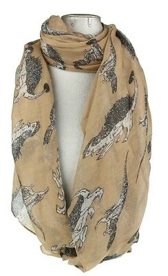 Hot Air Balloon Print Scarf Comic Fashion Wrap Stole Shawl Womens Neck Warmer