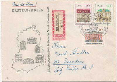 Brief Mit Selbstbucher R-zettel 1085 Berlin Zwa KöStlich Ddr zentralamt Für Werbung