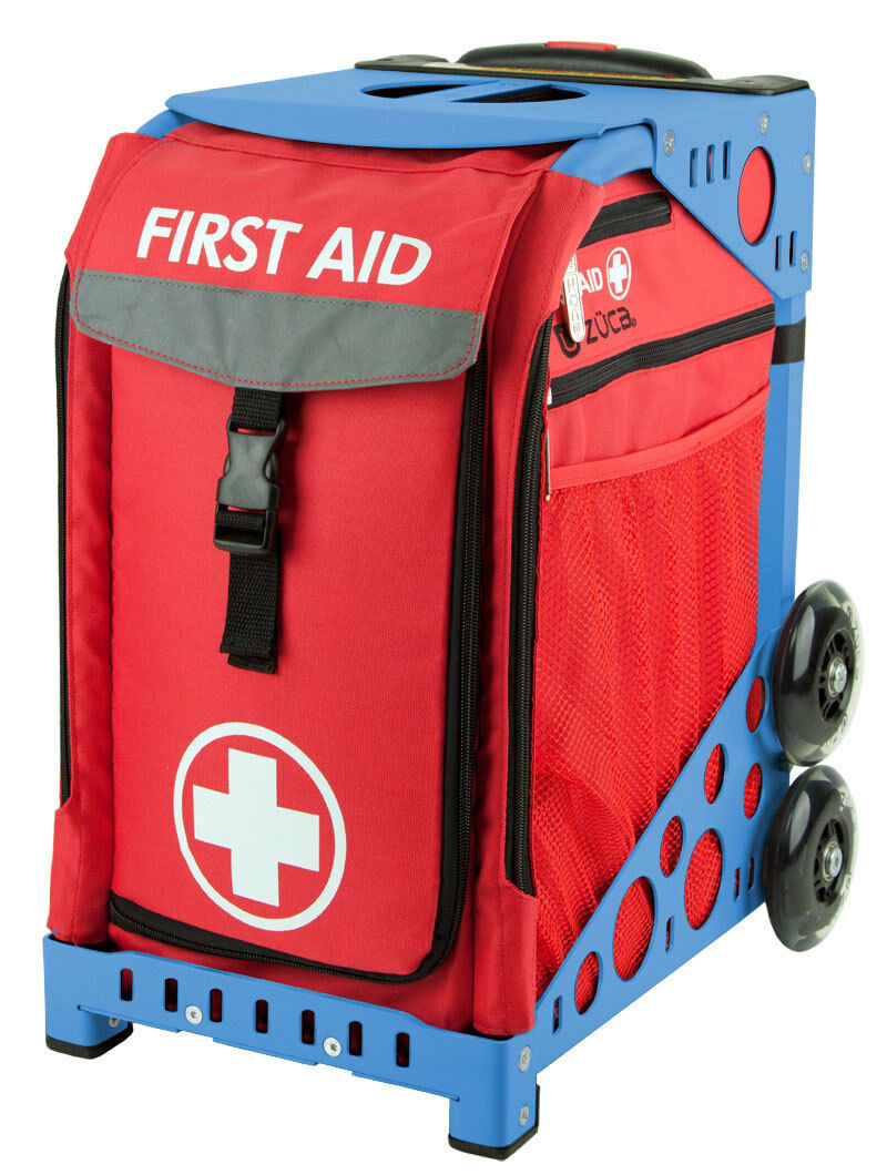 ZUCA Bag First Aid Insert & bluee Frame w Flashing Wheels - FREE SEAT CUSHION