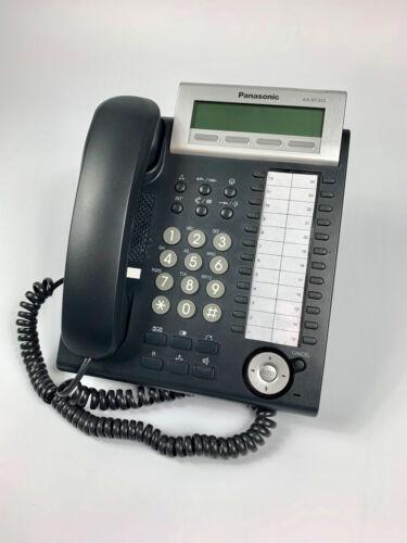 Panasonic KX-NT343 IP Systemtelefon Telefon Schwarz Rechnung 19/% MwSt