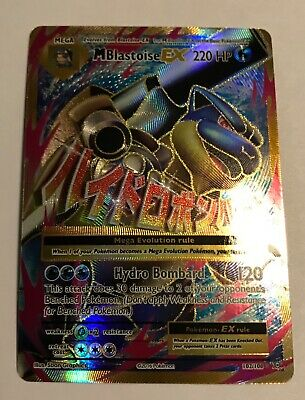 1x Mega-Blastoise-EX Evolut 102//108 Full Art Ultra Rare NM-Mint Pokemon XY
