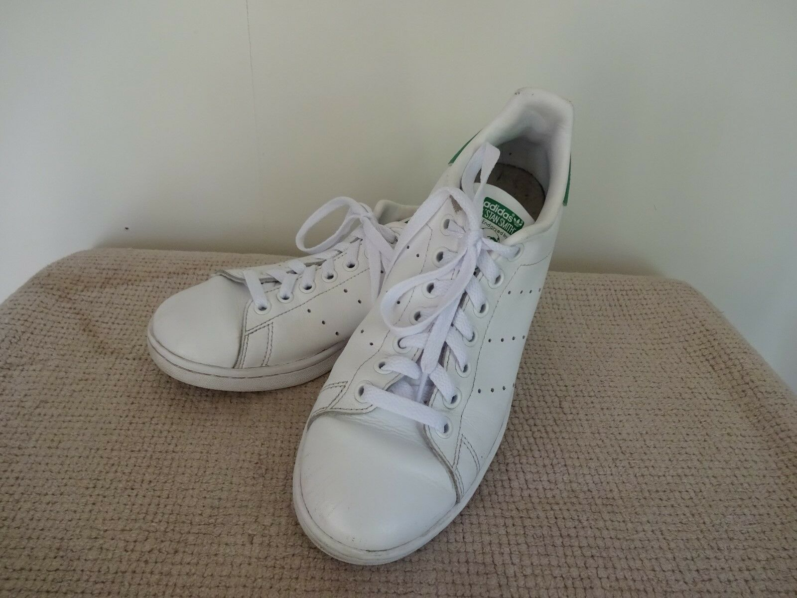 Men's Adidas 'Stan Smith' Sneakers White Green Comfortable New shoes for men and women, limited time discount