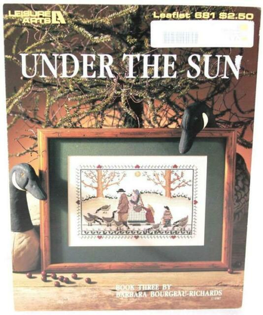 1988 Leisure Arts Barbara Bourgeau-Richards Under the Sun 681 Cross Stitch Chart