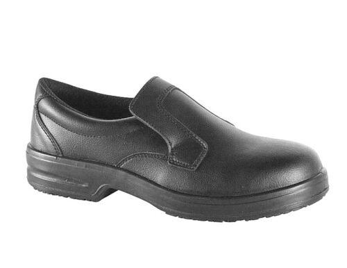 Arbeitsschuhe Sicherheitsschuhe S2 schwarz Slipper rutschhemmend Küchenschuhe