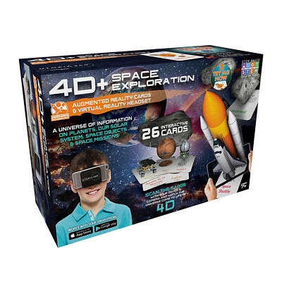 Utop/ía 360//° experiencia de dinosaurio tarjetas de realidad aumentada y VR Headset de Retrak 4d