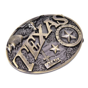 Texas-Long-Bull-Horn-Belt-Buckle-Western-Cowboy-Novelty-Belt-Buckles-Vint-SPND