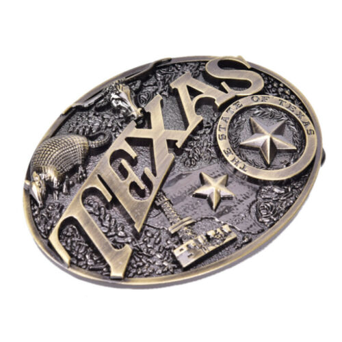 Texas Long Bull Horn Belt Buckle Western Cowboy  Novelty Belt Buckles Vintage FN