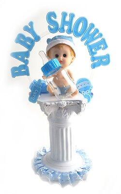 "Baby Boy Shower Centerpiece Balloon Weight Table Decoration Keepsake 15.5/"" tall"