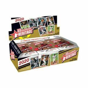 2020 Bowman Heritage Baseball Card Hobby Box Factory Sealed Autograph Rookie MLB