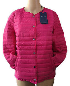 dd77a556316 Image is loading Armani-jeans-women-039-s-fuchsia-down-jacket-