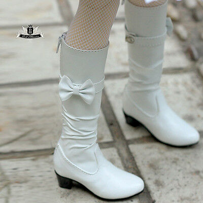 1/4 BJD shoes MSD Dollfie Dream Snow white bow Boots Dod AOD MID SOOM Dollmore