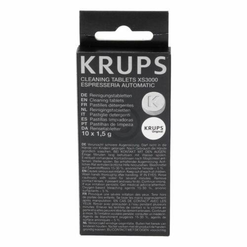 Compresse di pulizia 10st macchina da caffè macchina da caffè espresso KRUPS ORIGINALE xs300010