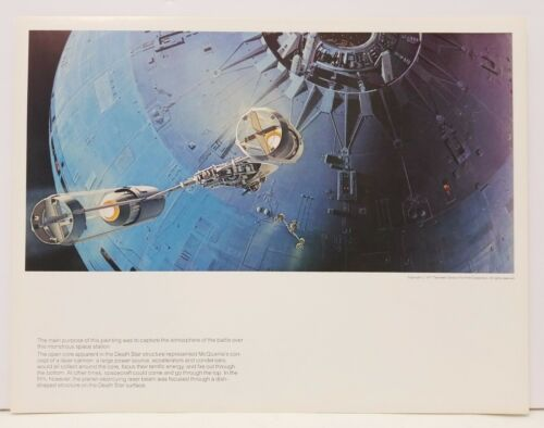 "Original 1978 Ralph McQuarrie Star Wars Print #17 Death Star Battle 11""x14"""