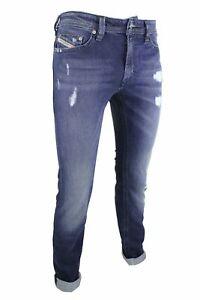 DIESEL-THAVAR-WASH-CGQ84-Stretch-Herren-Jeans-Slim-Skinny-Slim-Fit-Hose-Blau-L32