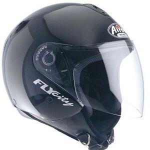 CASCO-JET-AIROH-FLY-CITY-Casque-Helmet-Helme-Visiera-Moto-Scooter