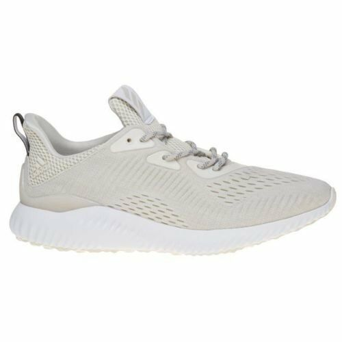 Adidas Mens White Natural Alpha Bounce Nylon Trainers Running Shoes BW1207